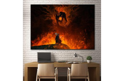 Gandalf ve Balrog Lotr Kanvas Tablo dsk-23