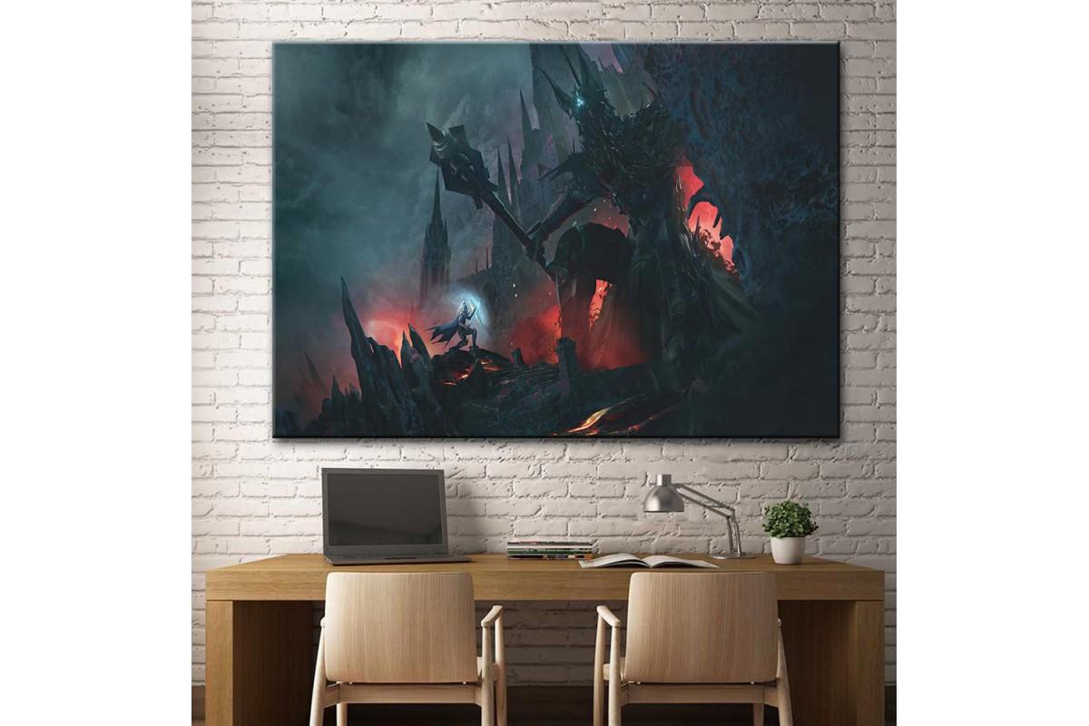 The Silmarillion Morgoth vs Fingolfin Lotr Kanvas Tablo dsk-28