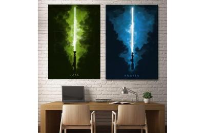 Star Wars Anakin Skywalker Luke Skywalker 2 Parça Tablo dsk-5-11