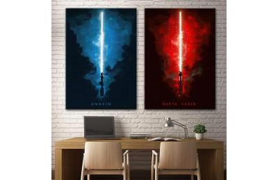 Star Wars Anakin Skywalker Darth Vader 2 Parça Tablo dsk-5-8