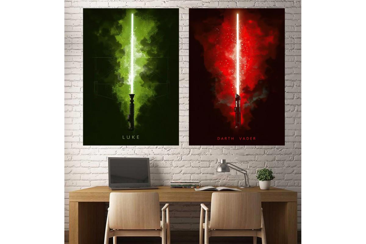 Star Wars Darth Vader Luke Skywalker 2 Parça Tablo dsk-8-11