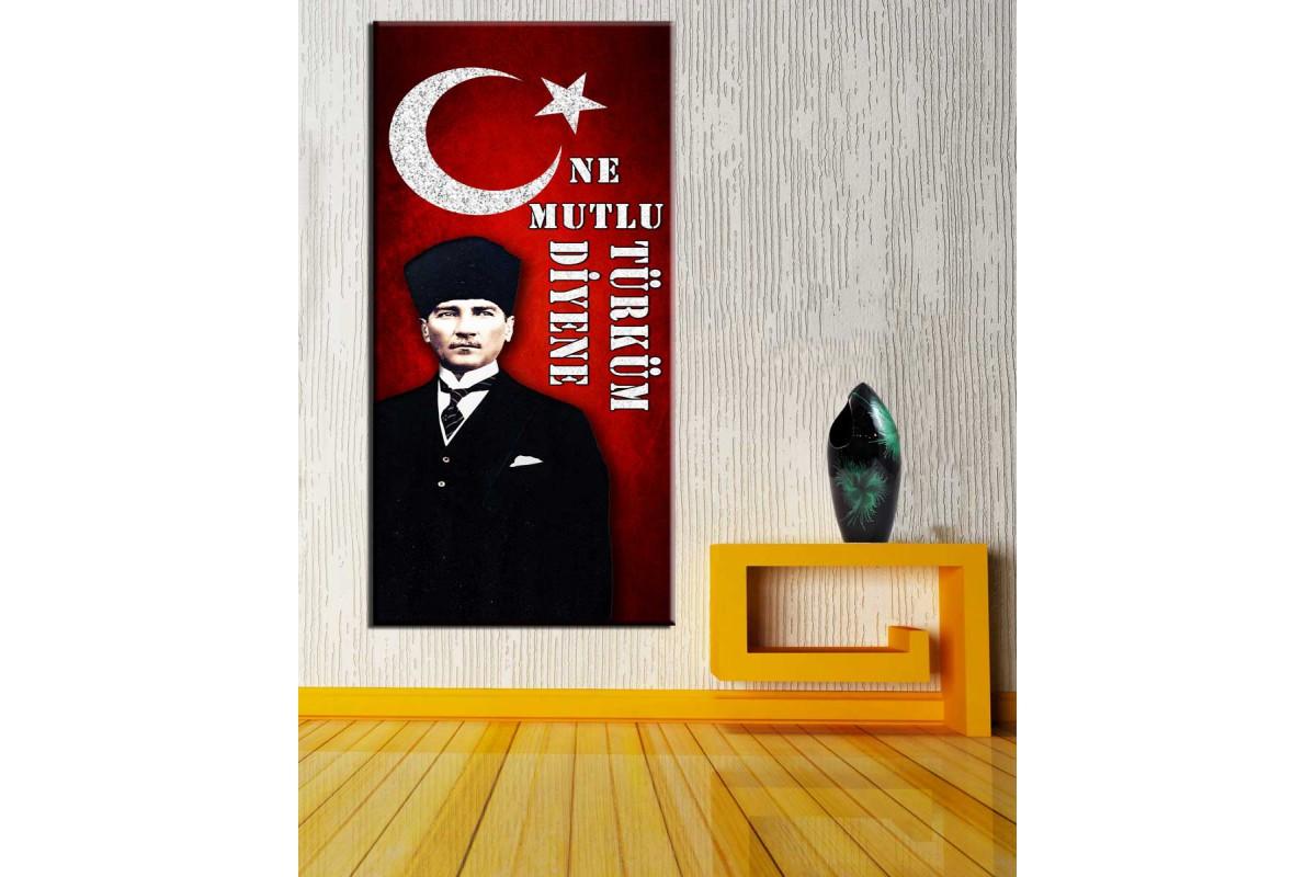 Ne Mutlu Türküm Diyene Atatürk Panoramik Tablo dkmpnr04