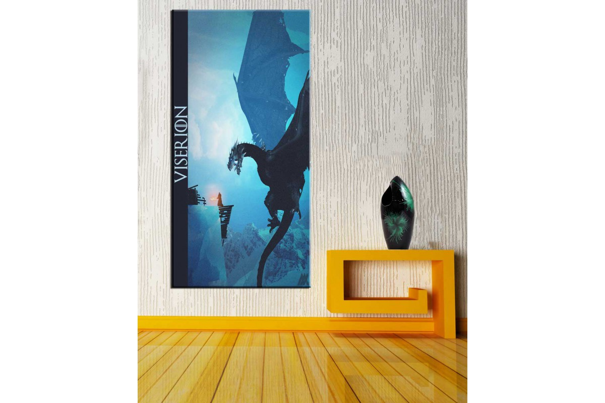 Ejderha Viserion Game Of Thrones Panoramik Tablo dkmpnr09