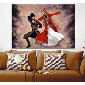 Forklorik Kafkas Dansı Çift Kanvas Tablo slm10