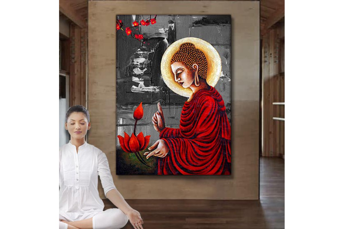Feng Shui Buda Kanvas Tablo slm62