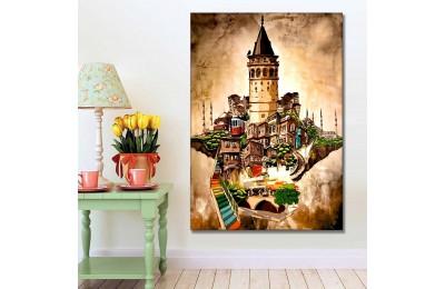 Galata Kulesi İstanbul Kanvas Tablo slm65